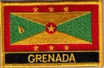 Grenada Embroidered Flag Patch, style 09.